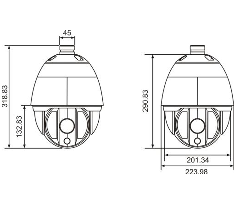 SM-SDC611-Q27X15 PTZ Dome Lightning proof somax egypt 1